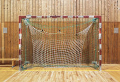 Retro indoor soccer goal Stock Photos