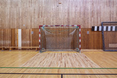Retro indoor soccer goal Stock Photo