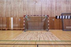 Retro indoor soccer goal Stock Photo