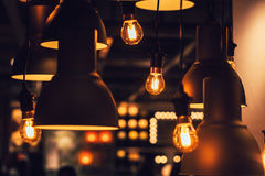 Free Retro Industrial Loft Style Hanging Tungsten Lamp Bulb Decoration Stock Photo - 97272900