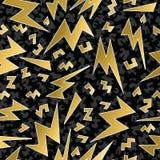 Retro infall för guld för modell för stråle för bult för 80-tal90-talåska stock illustrationer