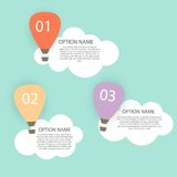 Retro Infographic with Air Balloons Vector Stock Images