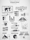 Retro infographic demographic world elements grey for web. Retro infographic demographic world elements grey Royalty Free Stock Images