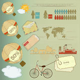 Retro Infographic Elements Stock Photography