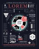 Retro infographic. Informatiegrafiek Stock Foto