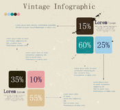 Retro infographic with ink arrows. Stock Images