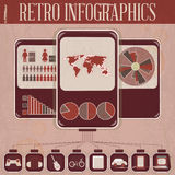 Retro Infographic Phone Design Royalty Free Stock Photography