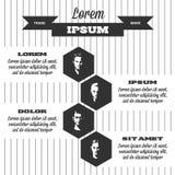 Retro infographics ilustracji