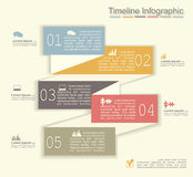 Retro infographics with elements and icons. Vector Stock Image