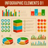 Retro Infographics Elements Set. Information and Royalty Free Stock Images