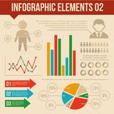 Retro Infographics Elements Set 2. Information and Stock Photography