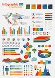 Retro Infographics Elements with world map Stock Photography