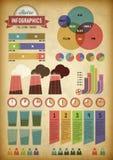 Retro infographics mit Rohren Stockfotografie