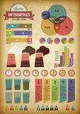 Retro infographics with pipes Stock Photography