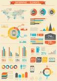 Retro infographics set. Royalty Free Stock Photo