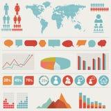 Retro infographics set. Stock Photo