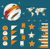 Retro infographics set. Royalty Free Stock Image
