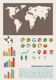 Retro infographics set Royalty Free Stock Images