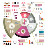 Retro Infographics Vector Template Stock Image