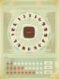 Retro infographicselementen Royalty-vrije Stock Fotografie