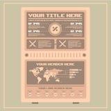 Retro infographicselementen Het art Royalty-vrije Stock Fotografie