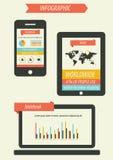 Retro infographicsuppsättning Arkivfoto