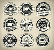 Retro Ink Label Set Stock Images