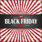 Retro insegna di Black Friday Fotografia Stock Libera da Diritti