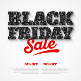 Retro insegna di vendita di Black Friday Fotografia Stock Libera da Diritti