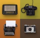 Retro insieme di elettronica fotografia stock libera da diritti