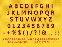 Retro insieme stilizzato della lettera Fotografia Stock