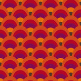 Retro inspired pattern. Seamless background inspired by 60's textile, bright colors royalty free illustration
