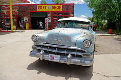 Retro installation on famous route 66 in USA Stock Photo