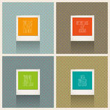 Retro Instant photo frames Royalty Free Stock Photos