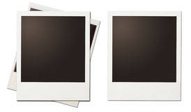 Retro instant photo polaroid frames isolated Royalty Free Stock Photo