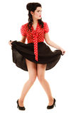 retro Integral de muchacha de la mujer en estilo modelo Imagen de archivo libre de regalías