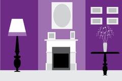 Retro  interior. In violet and grey Stock Image