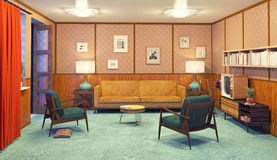 Retro interior Royalty Free Stock Images