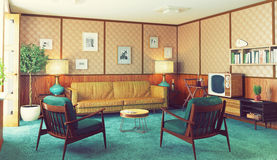 Retro interior Royalty Free Stock Image