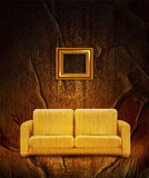 Retro interior with couch Royalty Free Stock Image