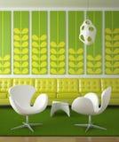 Retro interior design green Stock Images