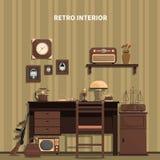 Retro Interior Illustration Royalty Free Stock Photo