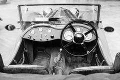 Retro interior of old automobile Stock Photo
