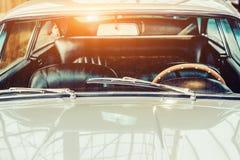 Retro interior of old automobile Royalty Free Stock Image