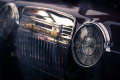 Retro interior vintage car Royalty Free Stock Photo