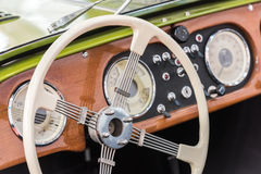 Retro Interior Of Vintage Car Royalty Free Stock Photos