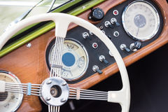 Retro Interior Of Vintage Car Royalty Free Stock Photo