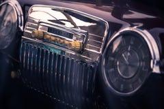 Retro interior of vintage car Stock Photo