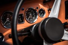 Retro interior vintage car Stock Photography