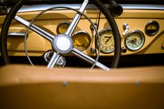 Retro interior vintage car Royalty Free Stock Image